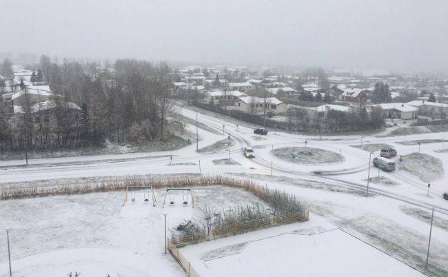 Akureyri kl. 9 í morgun, 29.október