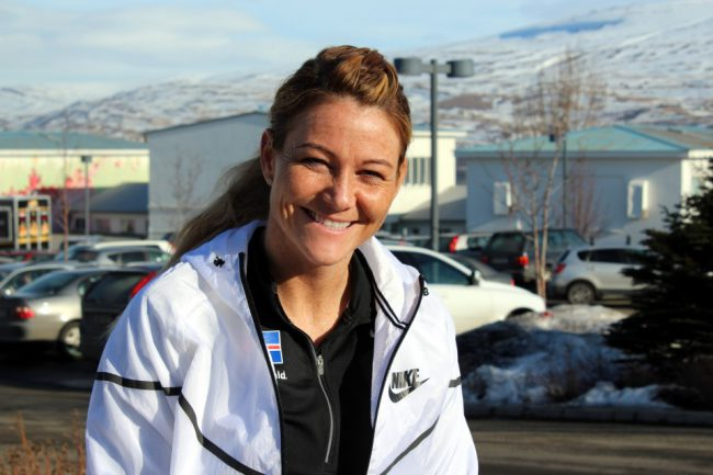 Birna Baldursdóttir var iðin við kolann um helgina. Mynd: VMA