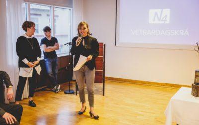 Hilda Jana Gísladóttir kynnir dagskránna. Mynd: Auðunn Níelsson.