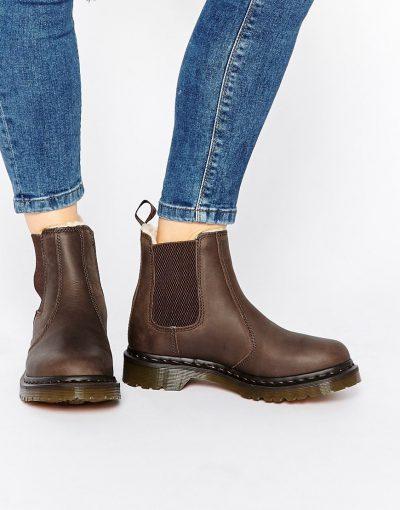 Dr. Martens Chelsea boots í brúnu
