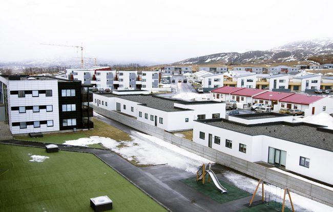 Maðurinn stöðvaði drenginn í Kjarnagötu í Naustahverfi