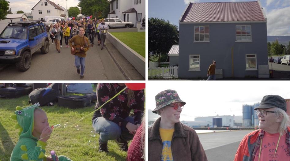 """Akureyringar njóta sólarinnar í nýju myndbandi GRINGLO: """"Maður finnur fyrir samheldni"""""""