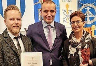 Fimm VMA-nemar fengu viðurkenningar á nýsveinahátíðinni 2017