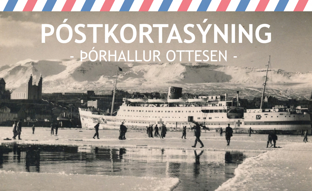 Þórhallur Ottesen opnar póstkortasýningu á Amtsbókasafninu