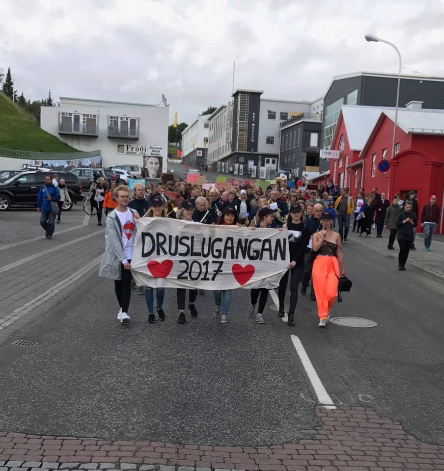 Metþátttaka í Druslugöngunni á Akureyri