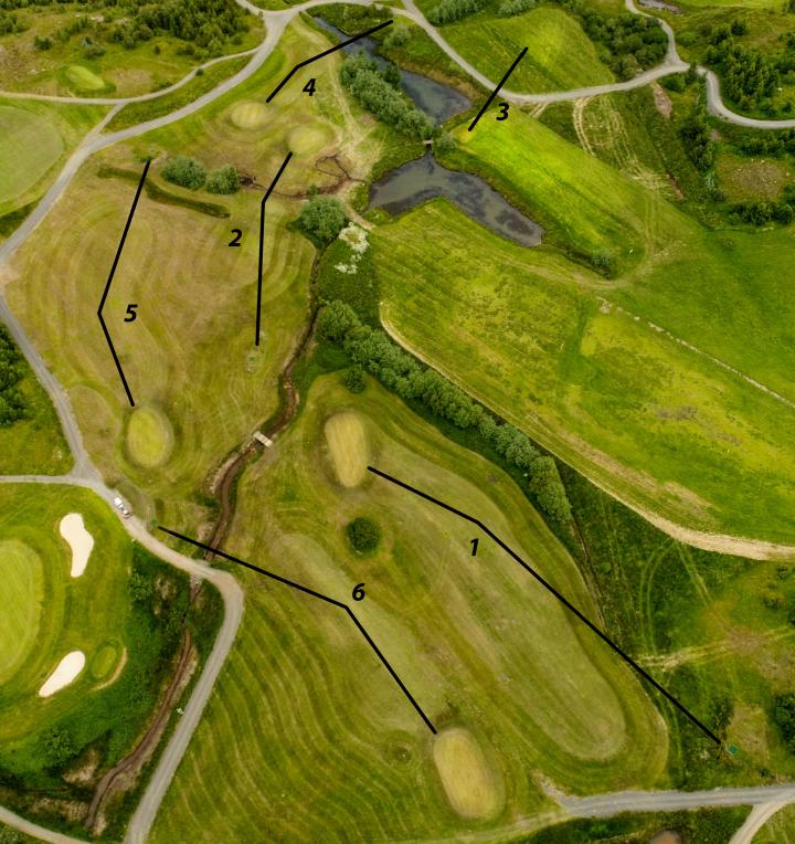 Golfklúbbur Akureyrar opnar nýjan sex holu völl