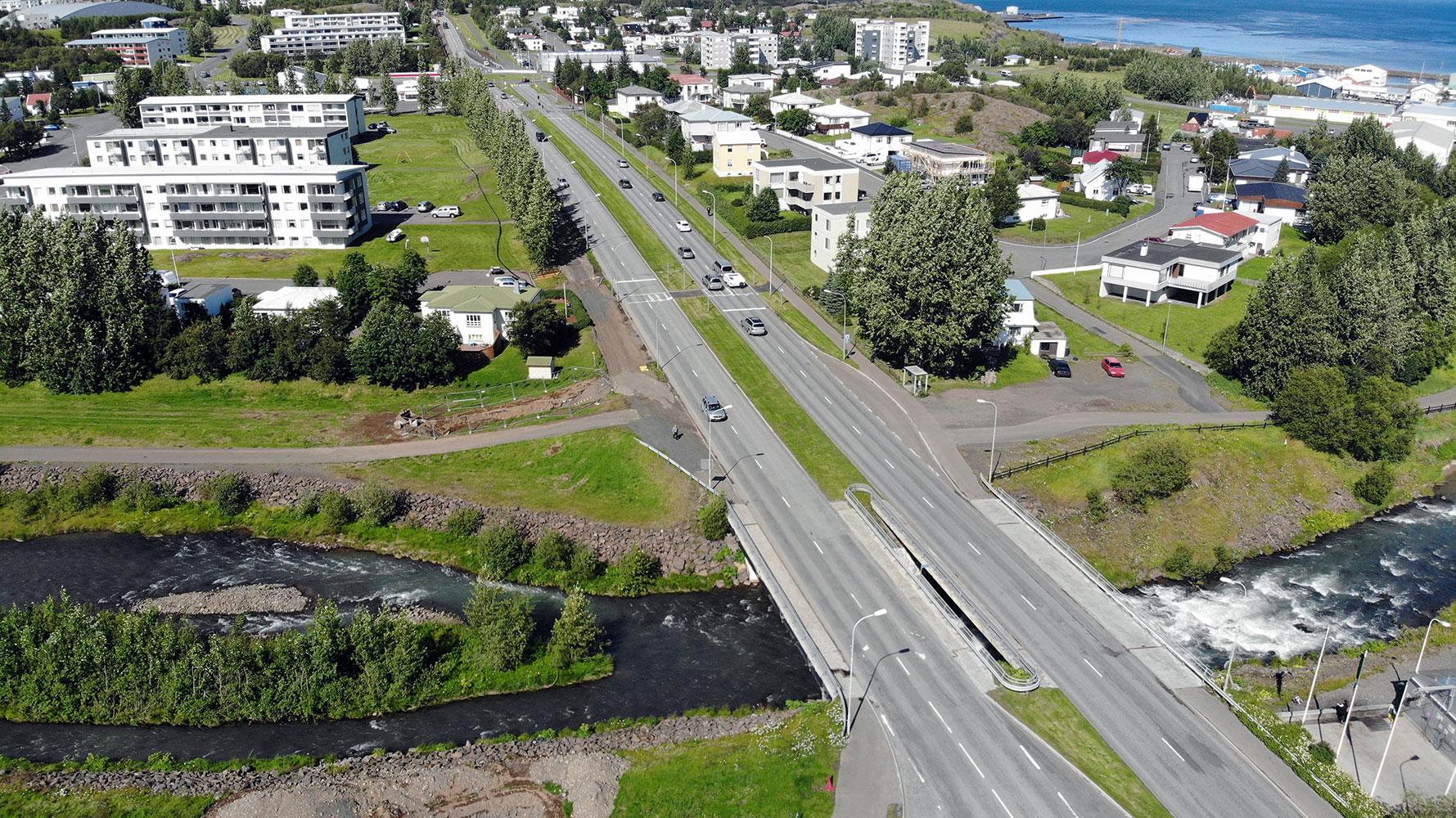 Ekið á sex ára dreng á Akureyri