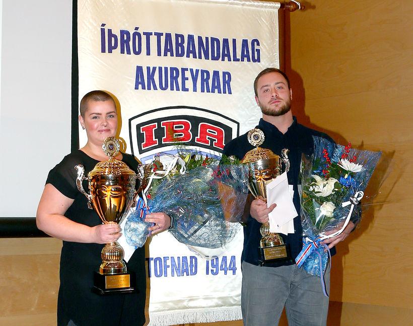 Viktor Samúelsson og Hulda B. Waage íþróttafólk Akureyrar 2018