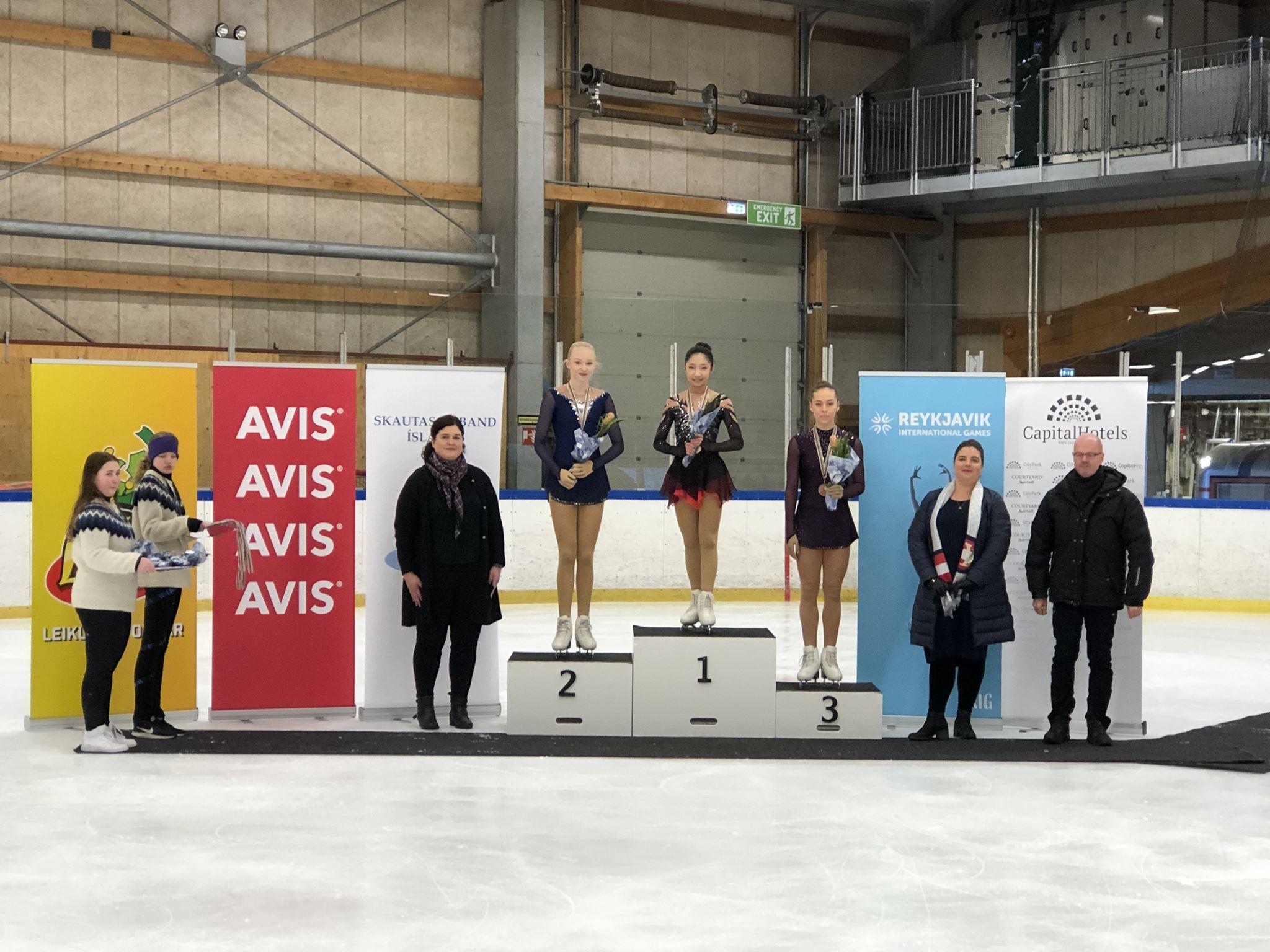 Listskautarar frá SA unnu silfur og brons á RIG 2019