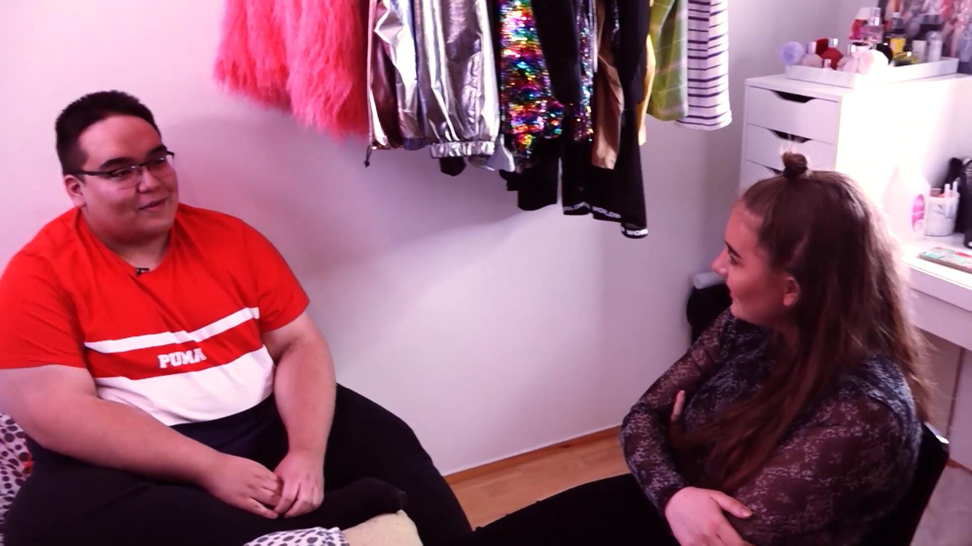 Binni Glee, Tjörvi Jónsson og Stefanía í fyrsta þætti ÉG UM MIG á N4
