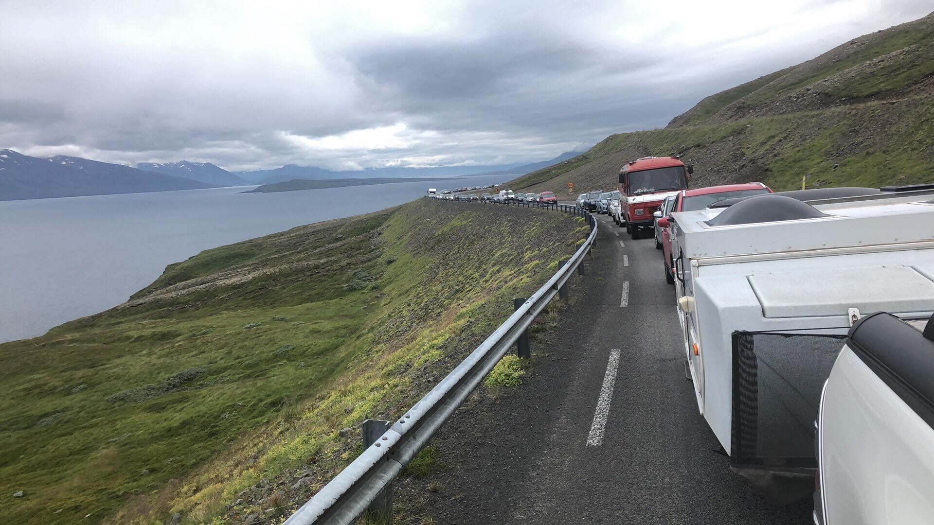 Umferðarteppa á Ólafsfjarðarvegi