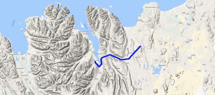 Akureyri fær nú eingöngu rafmagn frá Kröflulínu – Bilun í Laxárlínu
