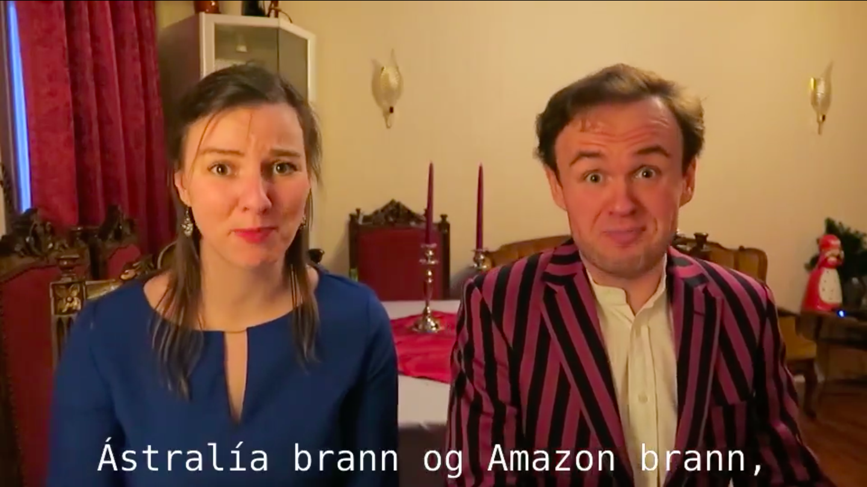Nýárskveðja Vandræðaskálda slær í gegn