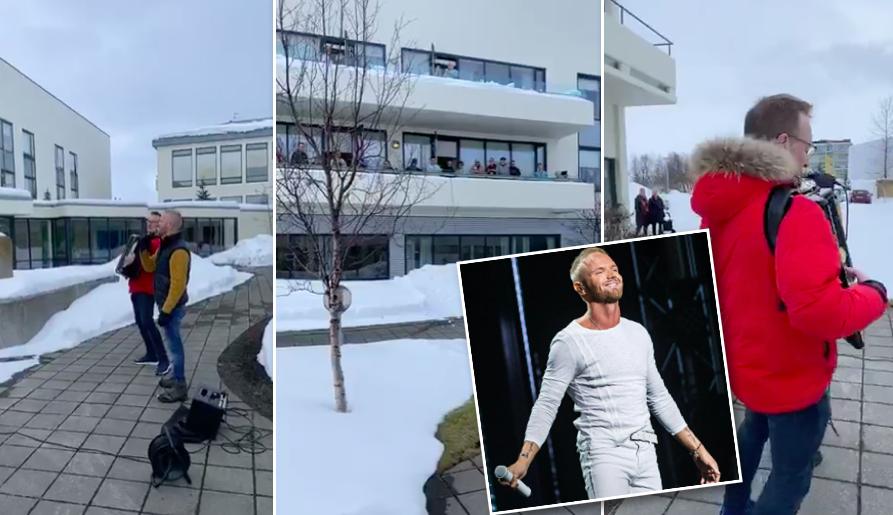 Friðrik Ómar og Valmar skemmtu íbúum á Öldrunarheimilum Akureyrar – Myndband