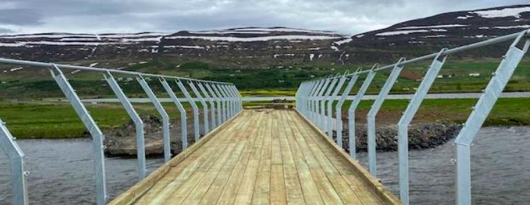 Ný brú yfir Eyjafjarðará vígð á morgun