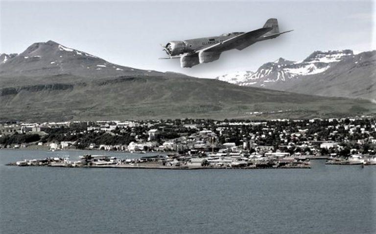 Fljúgandi furðuhlutur eða njósnaflugvél yfir Akureyri árið 1934?