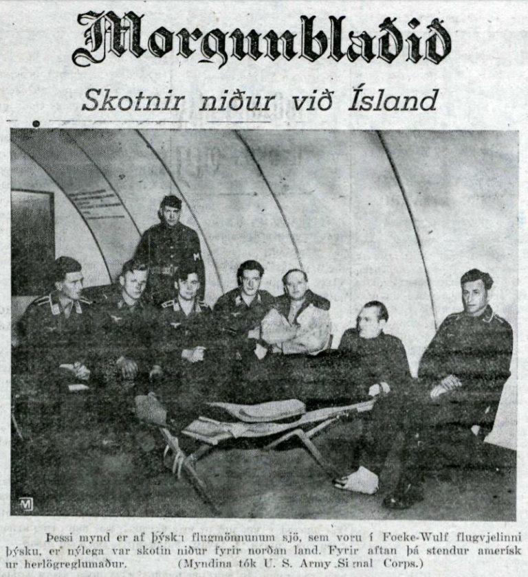 Þegar Focke-Wulf var skotin niður við Grímsey