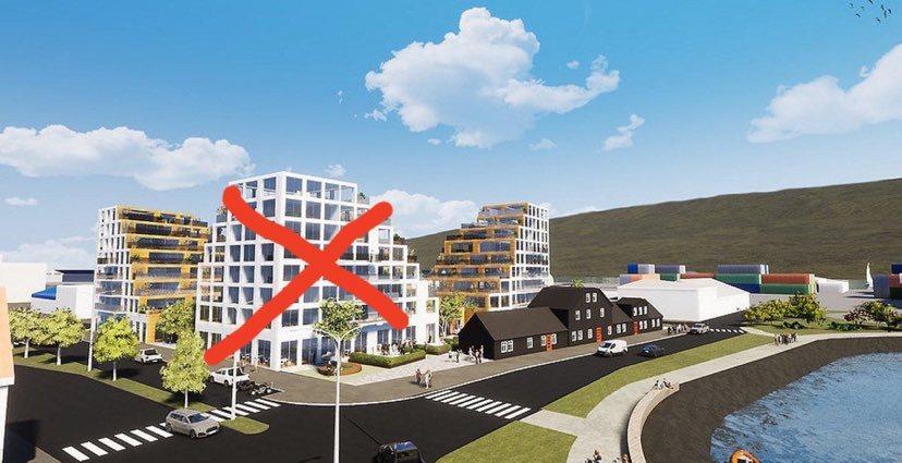 Akureyringar mótmæla áfram háhýsabyggð á Oddeyri