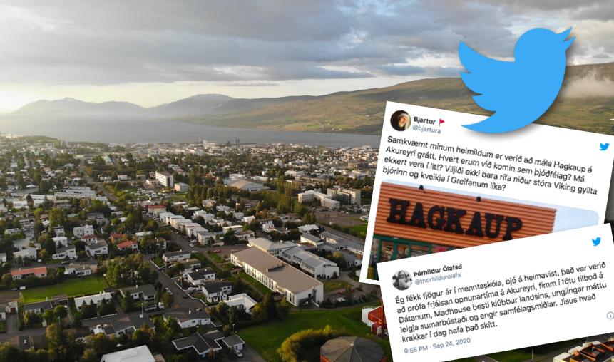 """Akureyrarumræðan á Twitter: """"Eina sem vantar á Akureyri er mathöll"""""""