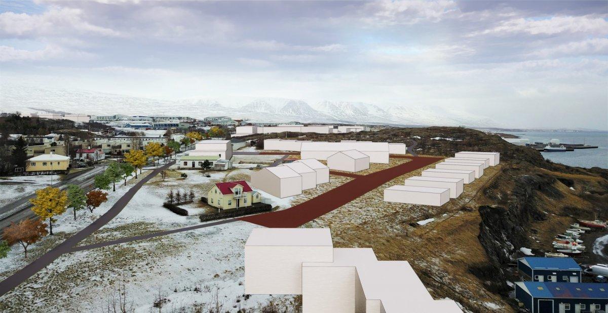 Allt að 280 íbúðir í nýrri íbúðabyggð norðaustan við Krossanesbraut