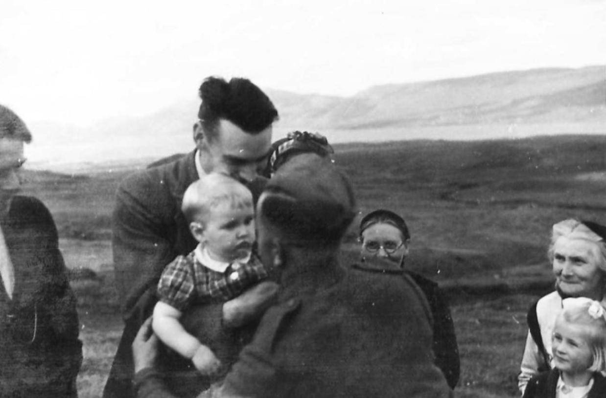 D´Eyncourt tók myndirnar í Lögmannshlíð í ágúst 1940