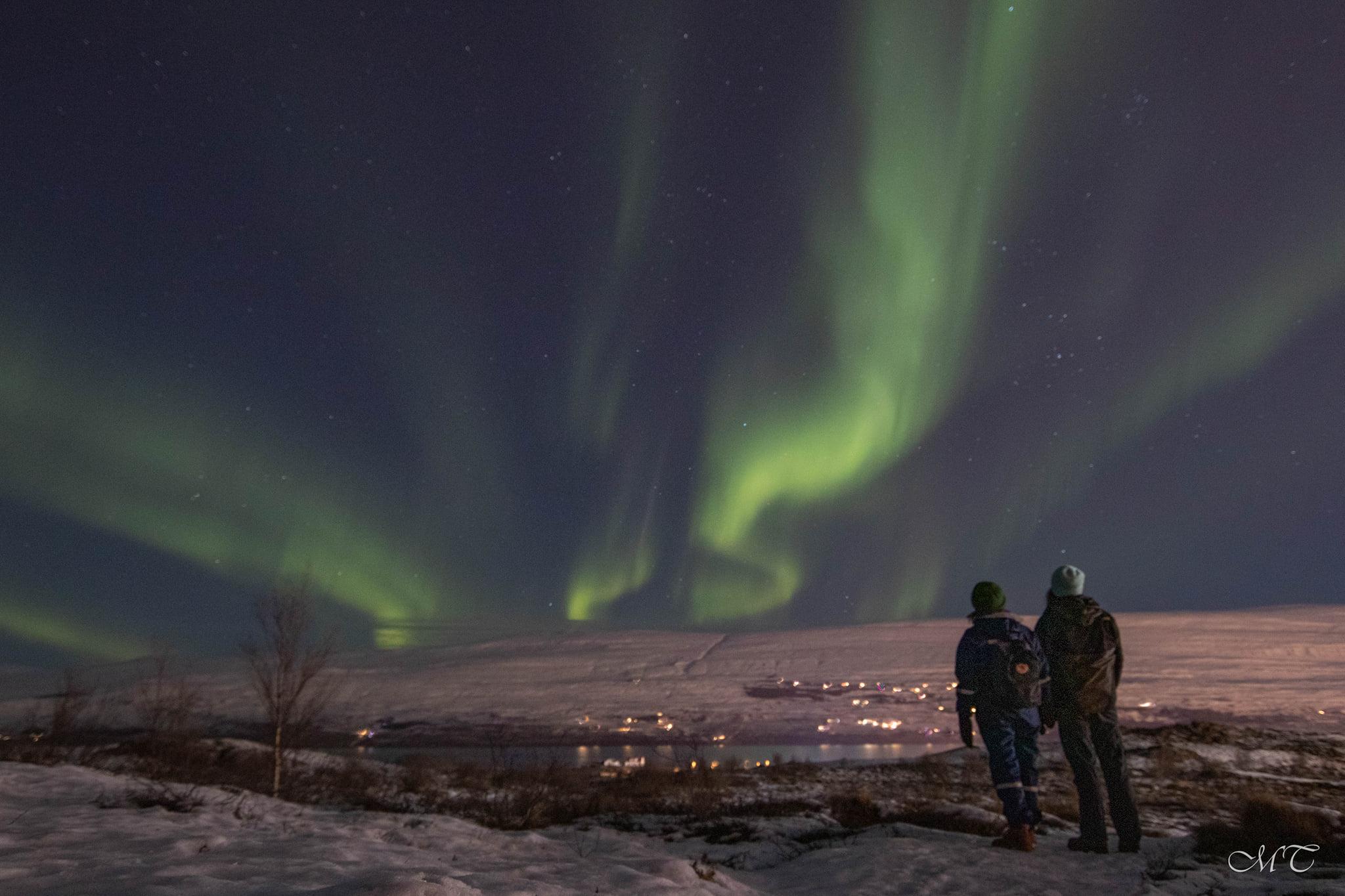 Norðurljós í Eyjafirði