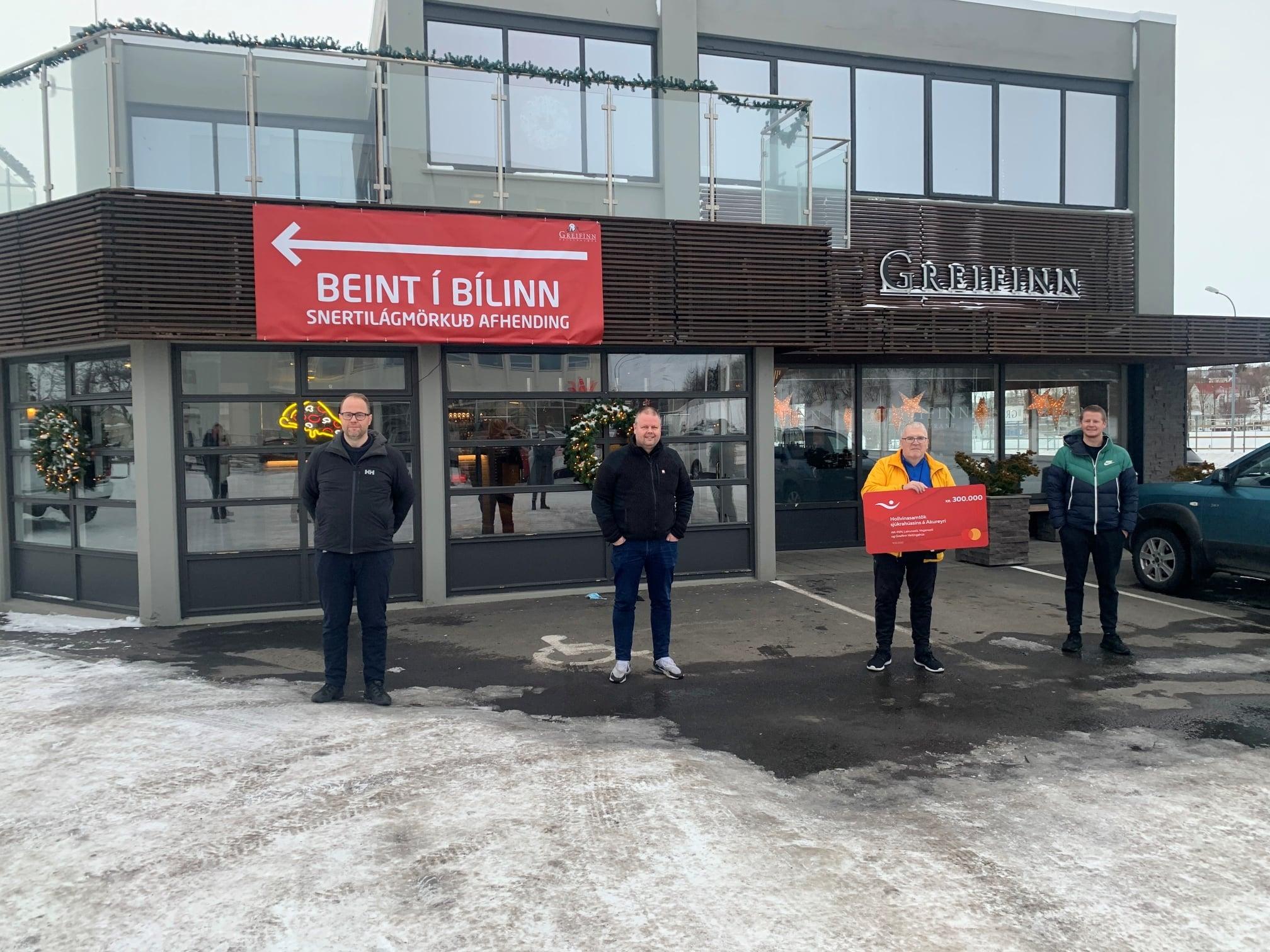 Greifinn styrkir Hollvinasamtök Sjúkrahússins á Akureyri