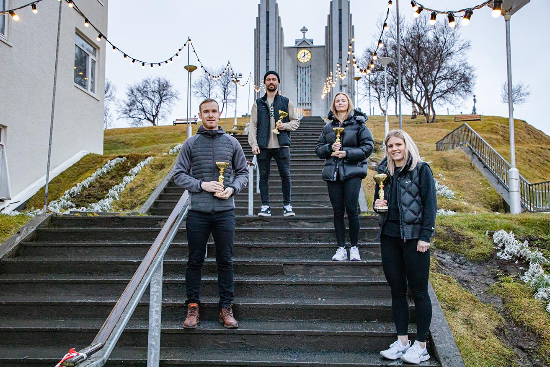 Hjólreiðafólks ársins 2020 hjá HFA verðlaunað
