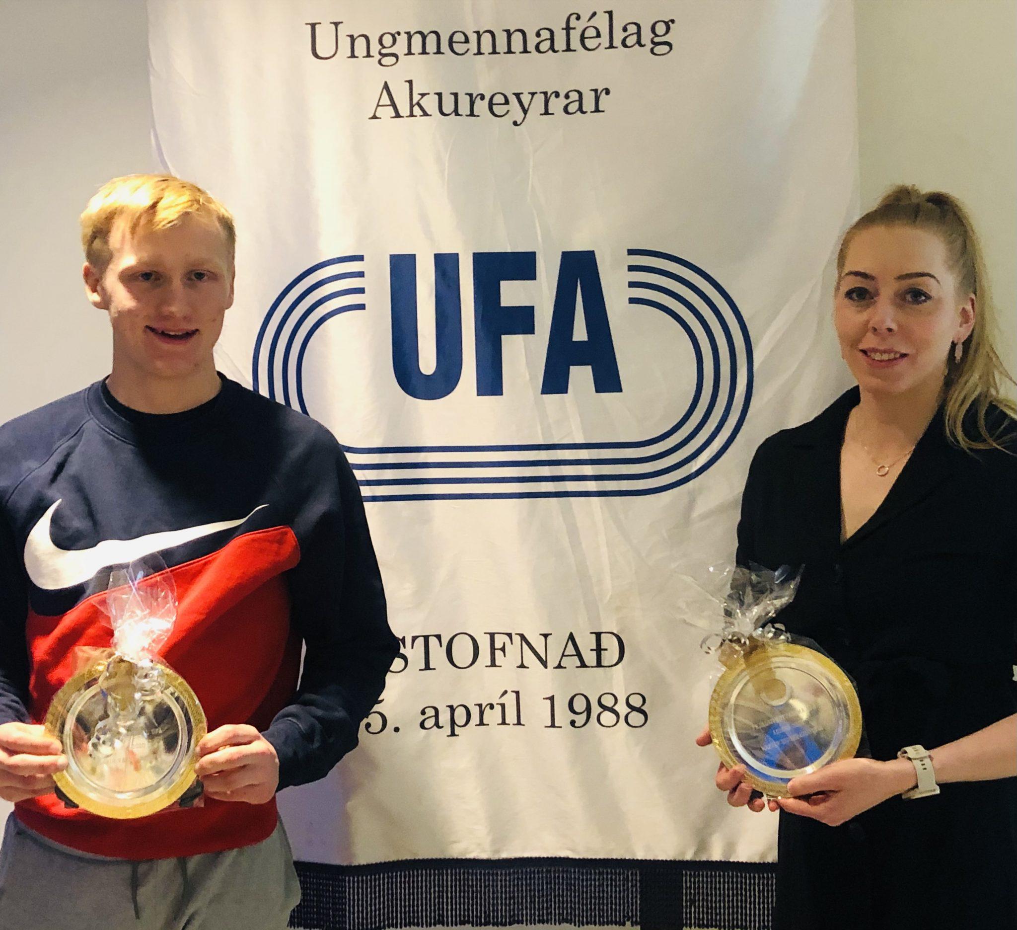 Hafdís og Birnir Vagn íþróttafólk Ungmennafélags Akureyrar 2020