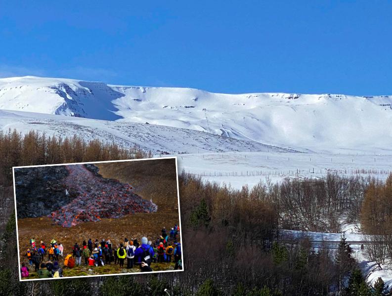 """Bæjarfulltrúar á Akureyri furða sig á fjöldanum við eldgosið: """"Eiga reglurnar bara við hluta landsmanna?"""""""