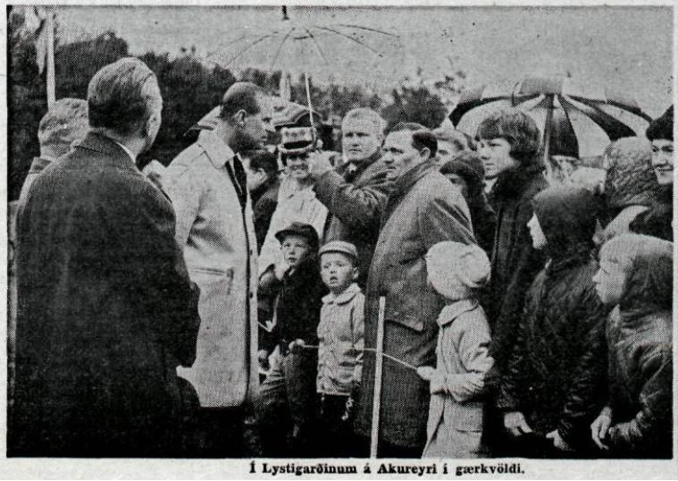 Þegar Filippus gæddi sér á soðinni smálúðu á Akureyri