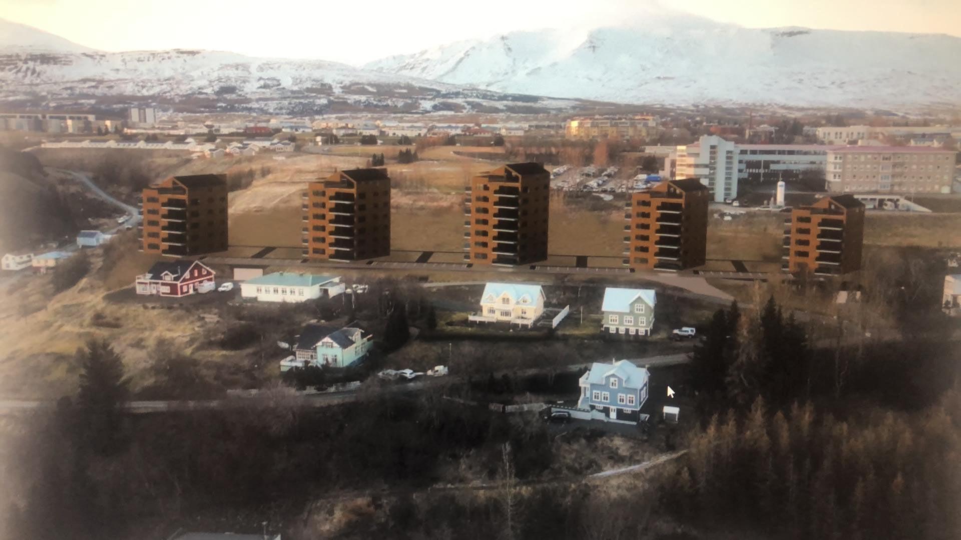 Meirihluti bæjarstjórnar Akureyrar samþykkti að úthluta SS Byggir lóðum við Tónatröð án auglýsingar