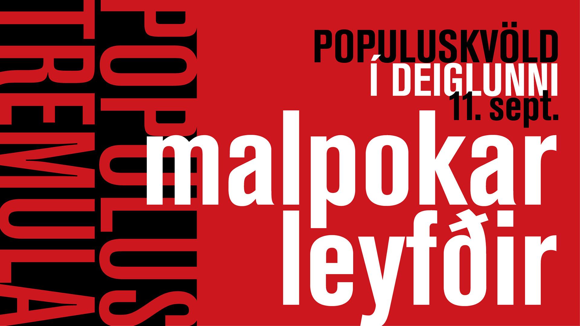 Gilfélagið 30 ára – Populus kvöld í Deiglunni 11. september