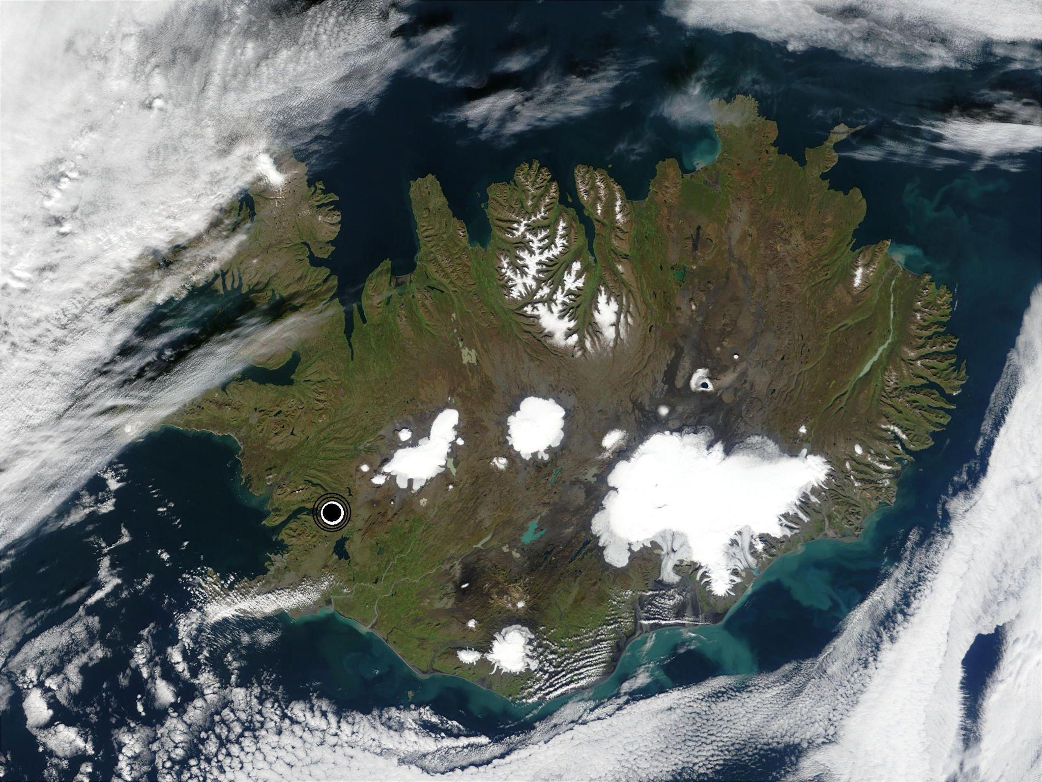 Lýðfræðileg miðja Íslands