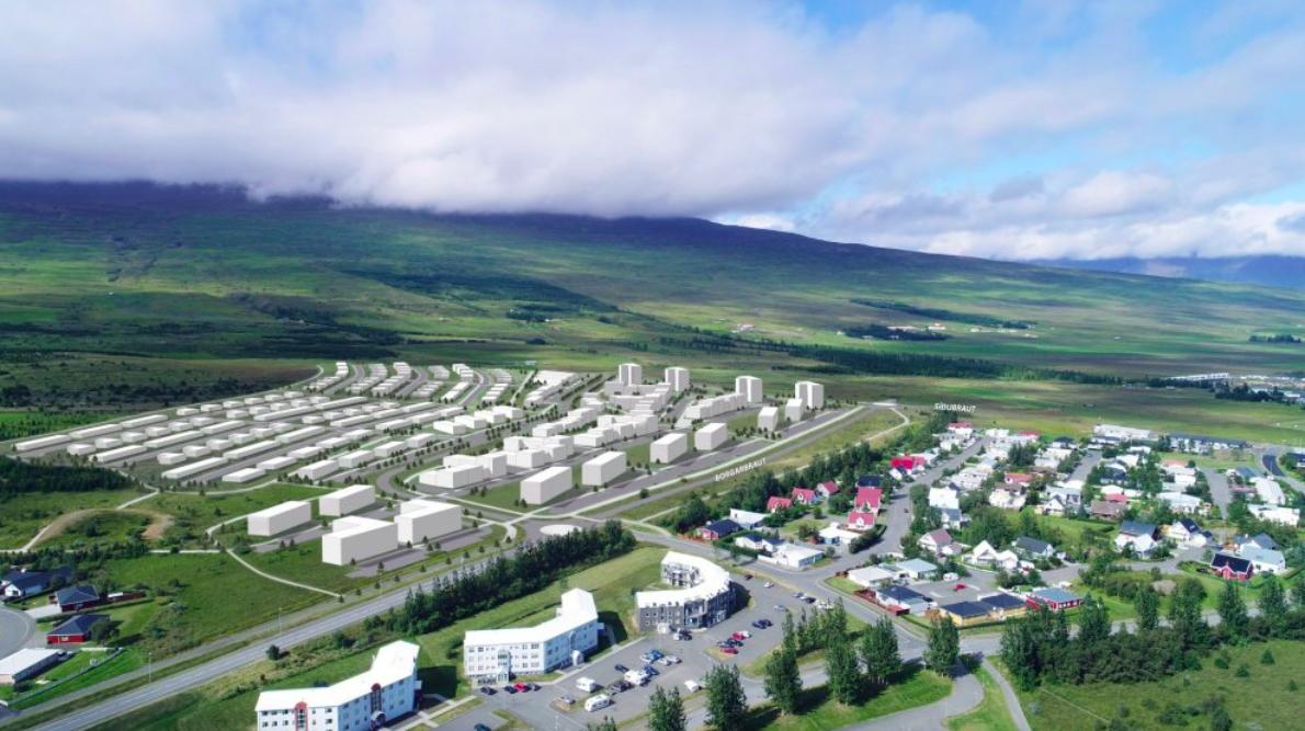 Hátt í þúsund nýjar íbúðir fyrir ofan Síðuhverfi