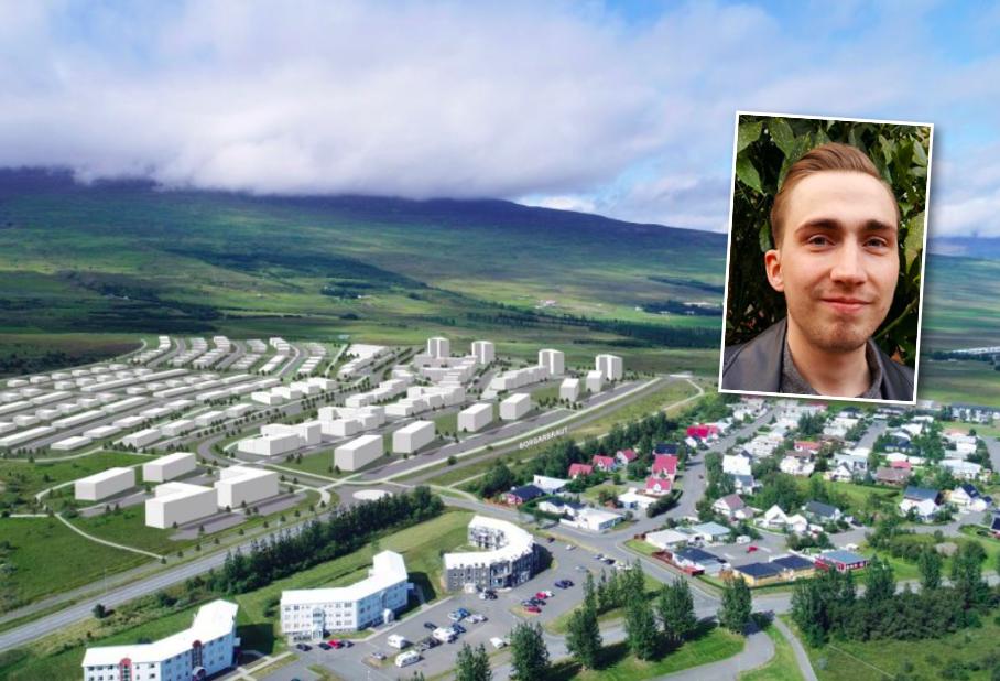 Segir skipulag fyrir nýtt hverfi Akureyrarbæjar vera kennsluefni í grænþvotti